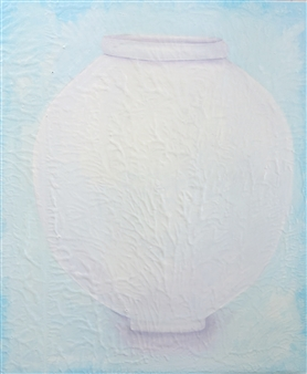 Youngseon You - Moon Jar series or Identity series #7 Oil on Canvas, Paintings