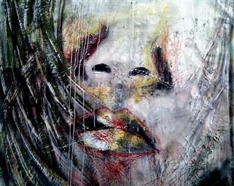 Luisa Vicente Isola - Rostro V Acrylic on Canvas, Paintings