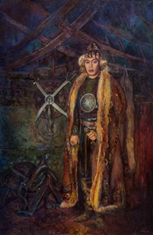 Aigerim Bektayeva - Baurzhan Oil on Canvas, Paintings