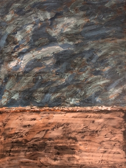 Courtney Muller - Lights on the Horizon Mixed Media on Canvas, Mixed Media