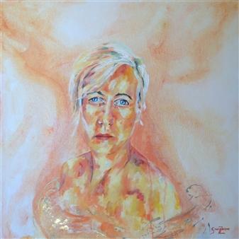 Grady Zeeman - Authentically You Oil on Canvas, Paintings