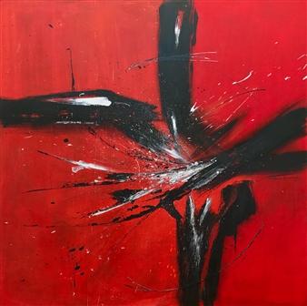 Patricia Queiruga - Energy Mixed Media on Canvas, Mixed Media