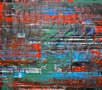 Gui Calil - Internal Battle Acrylic on Canvas, Paintings