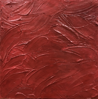Chadwick Arcinue - Colorscapes: Red Study 3 Acrylic on Canvas, Paintings