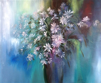 Lizzy Forrester - From the Garden Oil on Board, Paintings