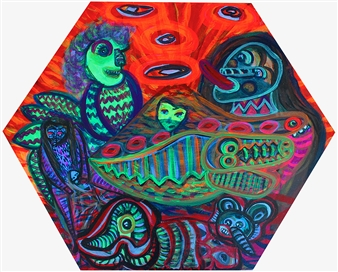 Paula Sayago Lundin - Desert Acrylic on Canvas, Paintings