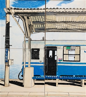 Atsushi Imai - Summer Trip Colored Pencil on Paper, Drawings