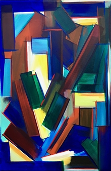 Rebecca Stenn - New Old Color Study #2 Acrylic on Canvas, Paintings