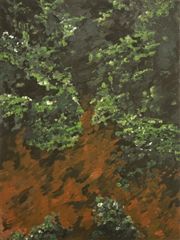 Caspar Baum - Botanical Garden 3 Oil & Acrylic on Canvas, Paintings