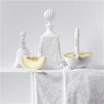 Art Golacki - Still Life in White with Melons / second variation Archival Pigment Print, Photography