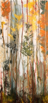 Mariela Soldano - Dawn in the Forest I Acrylic on Canvas, Paintings