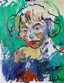 Milana Alaro - Untitled VI Oil on Canvas, Paintings