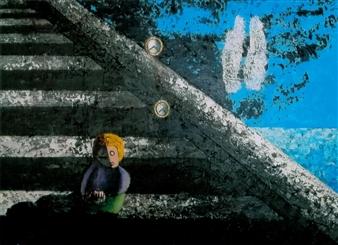 Frank M. Alba - Left Behind Acrylic on Canvas, Paintings