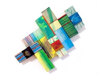 Yoshiko Kanai - Sound of Cricket Acrylic & Thread on Wood