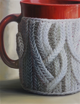 Jae Young Park - Woolscape - Holder of Mugs Oil on Canvas, Paintings