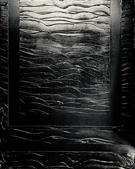 Natalia Gaviria - Black Wave Gesso, Acrylic & Spray Paint on Canvas, Paintings