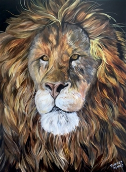 Rosemery Torres - Roar Acrylic on Canvas, Paintings