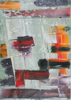 François-Jérôme Bringuier - Night Target One Oil on Paper, Paintings