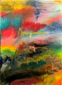 Maria Medrano - Arcoíris Oil, Acrylic, Gesso, Resin on Canvas, Mixed Media