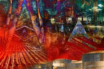 Frédérique Négrié - Incandescence 3 Digital Painting on Aluminum, Digital Art