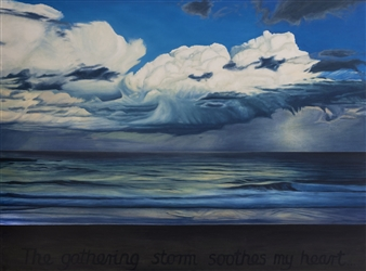 Sandra Guy - The Gathering Storm Oil on Canvas, Paintings