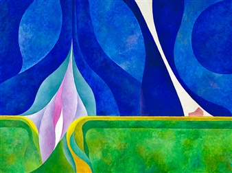 Jerry Anderson - Prairie Energy Acrylic on Canvas, Paintings
