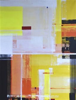 Abenamar Bauta Delgado - Amaneceres 1 Acrylic on Canvas, Paintings