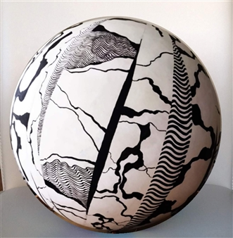 Joanne Syrop - Black and White Acrylic & Resin, Sculpture