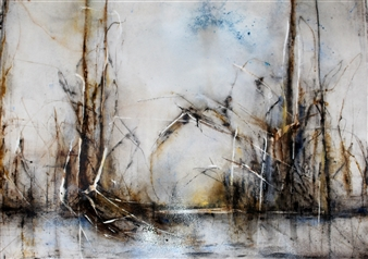Dana Ingesson - There Broken Hearts Gather Watercolor on Paper, Paintings