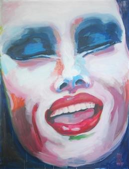 Eric Raffy - Trans 13 Acrylic on Canvas, Paintings