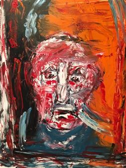Philippe Thélin - Selfie II Acrylic on Canvas, Paintings