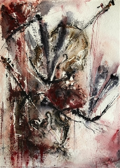 Dana Ingesson - Music Kiss Me Watercolor on Paper, Paintings