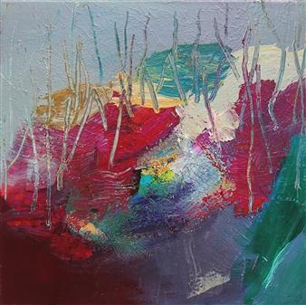 Gerlinde Amei Wöllmer - Farbentanz (Color Dance) Acrylic on Canvas, Paintings