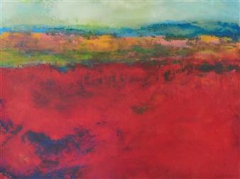 Pia Sjölin - Fall for New England Acrylic on Canvas Board, Paintings