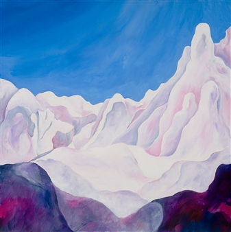 Jerry Anderson - Cappadocia 2 Mystical Landscape Acrylic on Canvas, Paintings