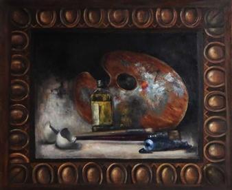 Pauli Zmolek - Egg d'Art Oil on Canvas, Paintings