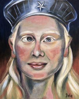 Clara de Bobes - Caitlin Acrylic on Canvas, Paintings