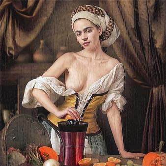 Alexander Pepe Roiz - Orange Juice Oil on Canvas, Paintings