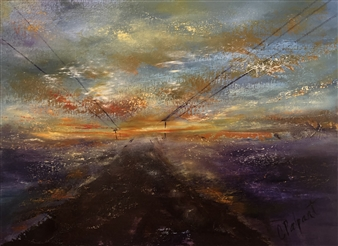 Christiane Palpant - Current Path Oil on Canvas, Paintings