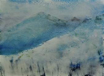 Pia Sjölin - Adirondack Mountains Acrylic on Canvas Board, Paintings