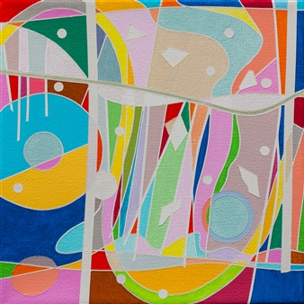 Ai-Wen Wu Kratz - New Find / No.4 Acrylic on Canvas, Paintings