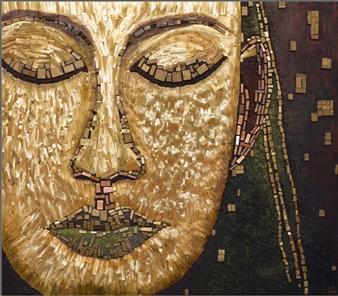 Aigerim Bektayeva - Tranquility Mixed Media on Wood, Mixed Media