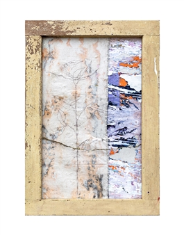 Vincent Donato - Stitched to Scar Mixed Media on Canvas, Mixed Media