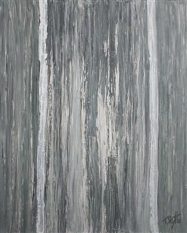 Tanja Skytte - Waterfall #2 Acrylic on Canvas, Paintings