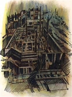 Manuel Riquelme Loyola - In Mollado Pastel on Paper, Paintings