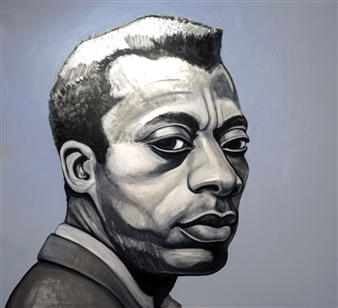 Gail Comes - James Baldwin Oil on Canvas, Paintings