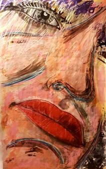 Franck Sastre - Nasha Mixed Media on Canvas, Mixed Media