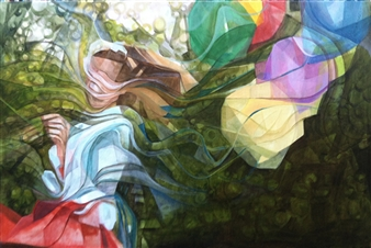 Maggie G. Moran - Untethered Oil on Canvas, Paintings