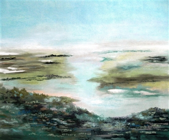 Marianne Bech - 10614 The Infinite Landscape Pastel on Paper, Paintings