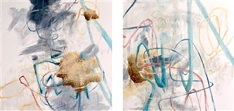 Maggie G. Moran - Waiting Room Oil on Canvas, Paintings